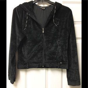 Beautiful BCBGMaxAzria vintage velvet hoodie 🌻!